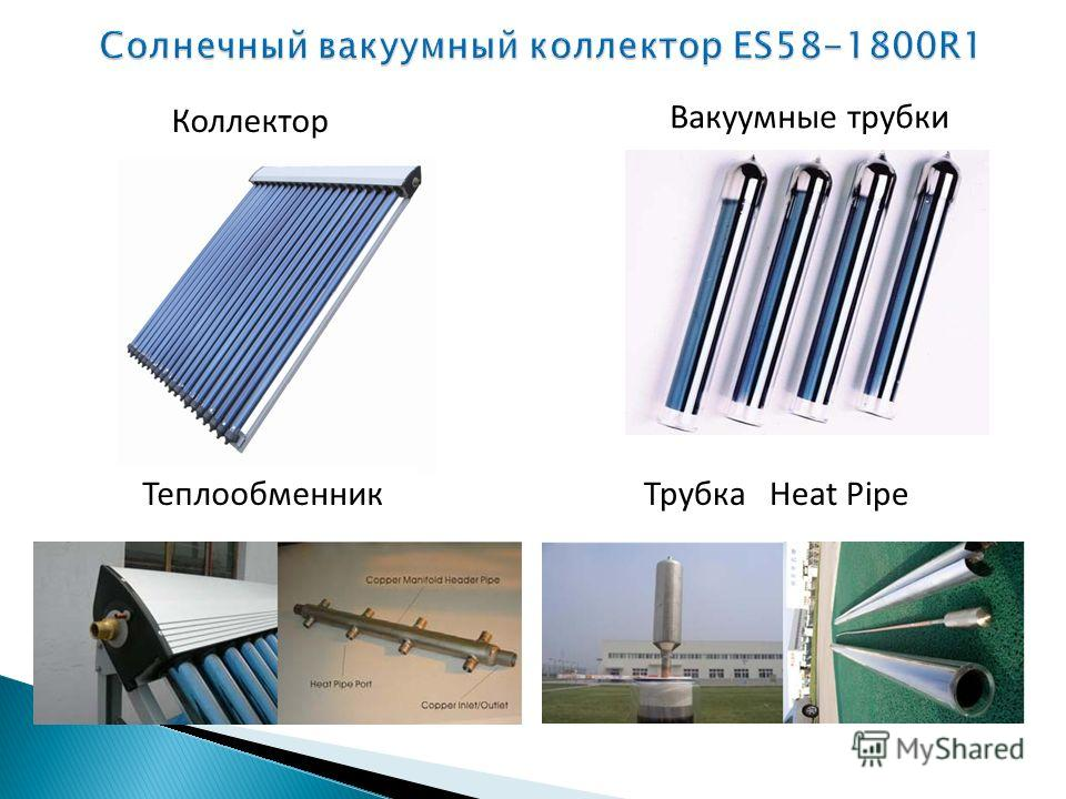 Коллектор Вакуумные трубки ТеплообменникТрубка Heat Pipe