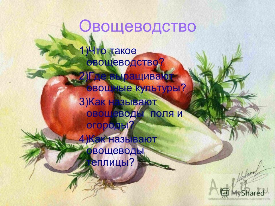 Ответы!!!!!!!!!! 1)Полеводство, овощеводство, плодоводство, цветоводство 2)Зерновые: пшеница,рожь, овёс, ячмень, просо, кукуруза, гречиха.