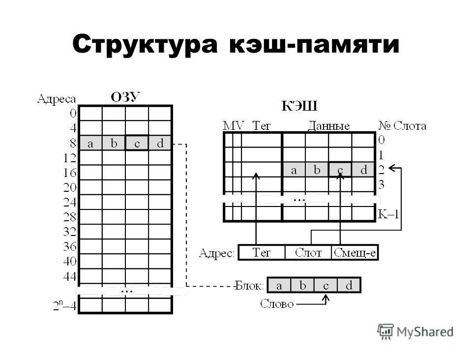 Структура кэш-памяти