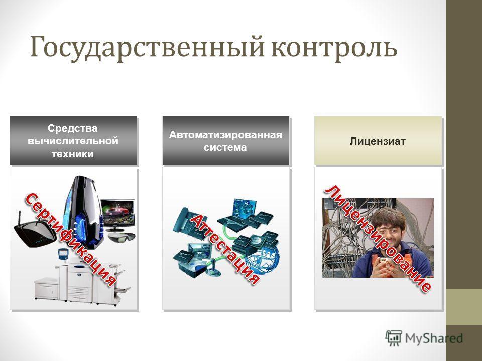 Государственный контроль Средства вычислительной техники Автоматизированная система Лицензиат