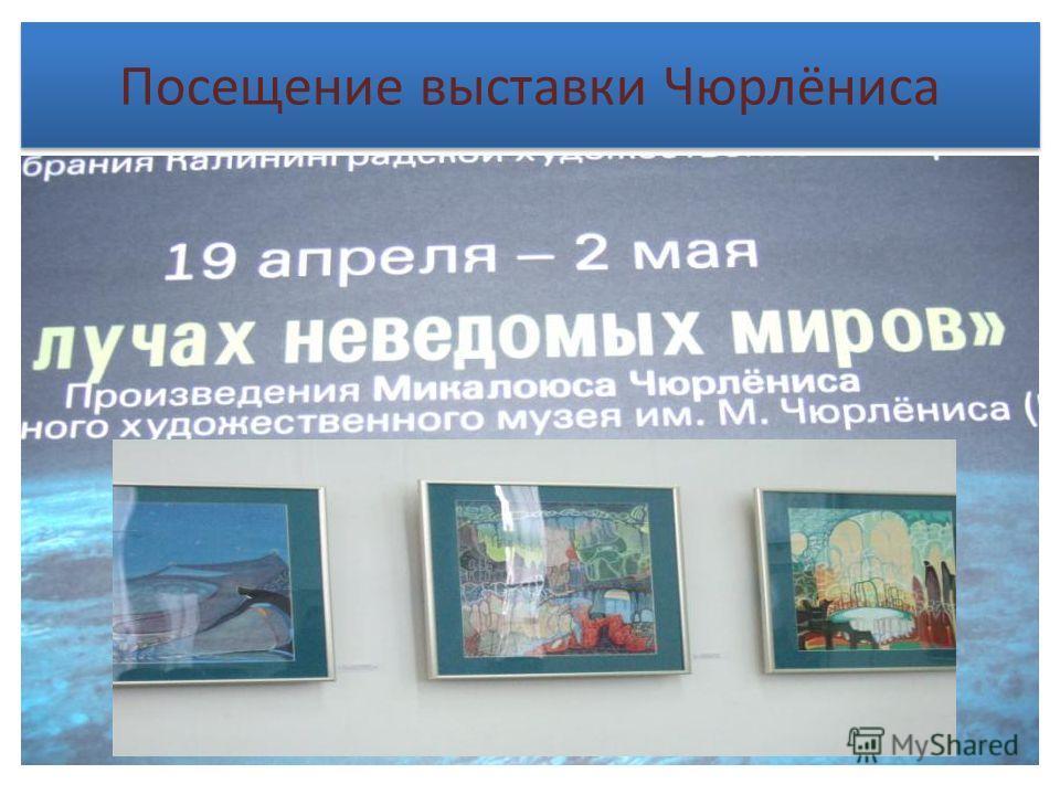 Посещение выставки Чюрлёниса