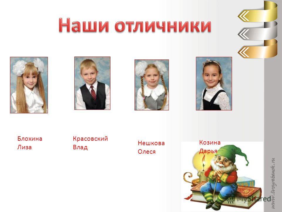 Блохина Лиза Красовский Влад Нешкова Олеся Козина Дарья
