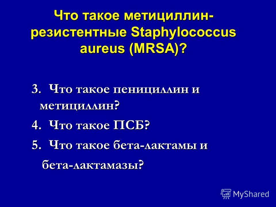 Что такое метициллин- резистентные Staphylococcus aureus (MRSA)? Если мы хотим понять, что представляют собой MRSA, мы должны сначала знать: Если мы хотим понять, что представляют собой MRSA, мы должны сначала знать: 1.Что такое стафилококки? 2.Что т