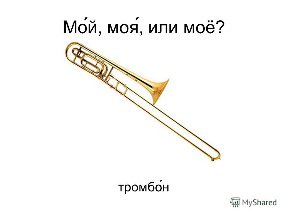 Мо́й, моя́, или моё? тромбо ́н