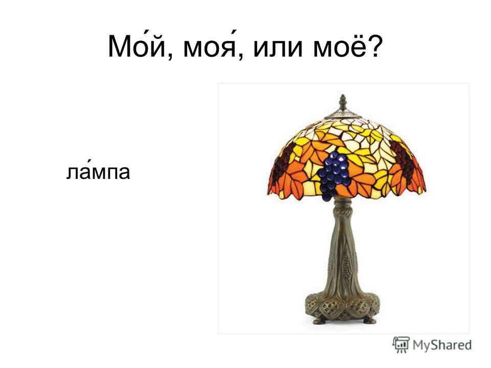 Мо́й, моя́, или моё? ла ́мпа