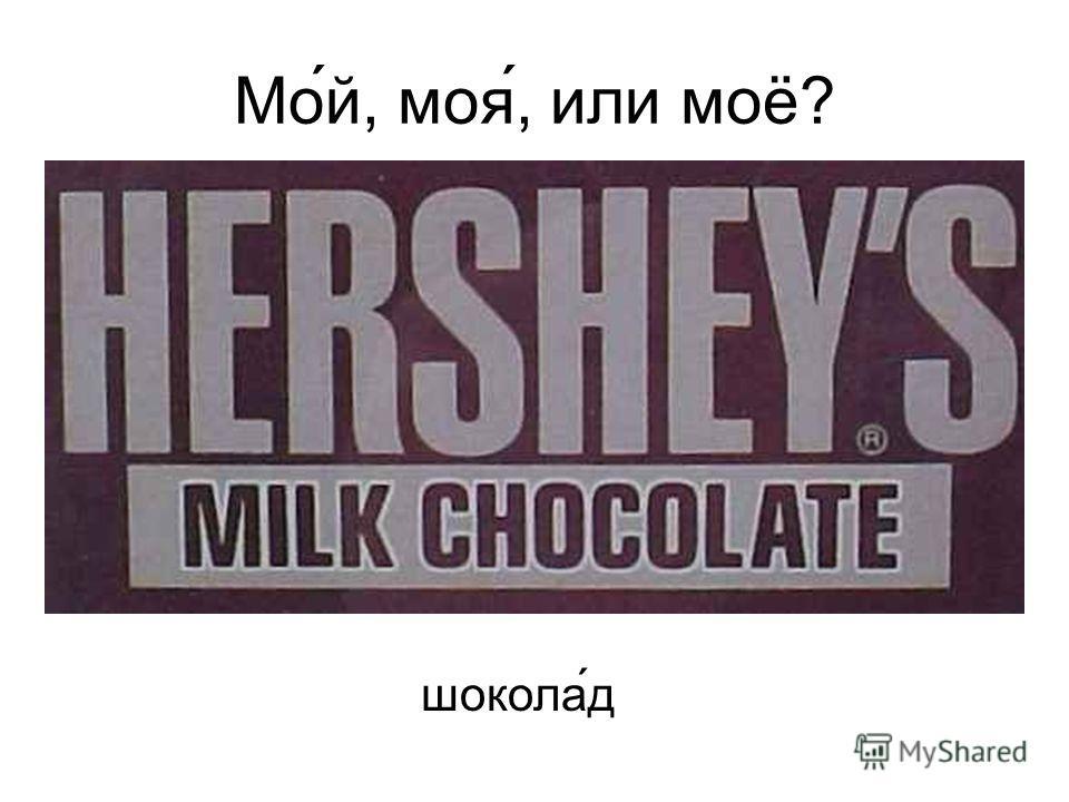 Мо́й, моя́, или моё? шокола ́д