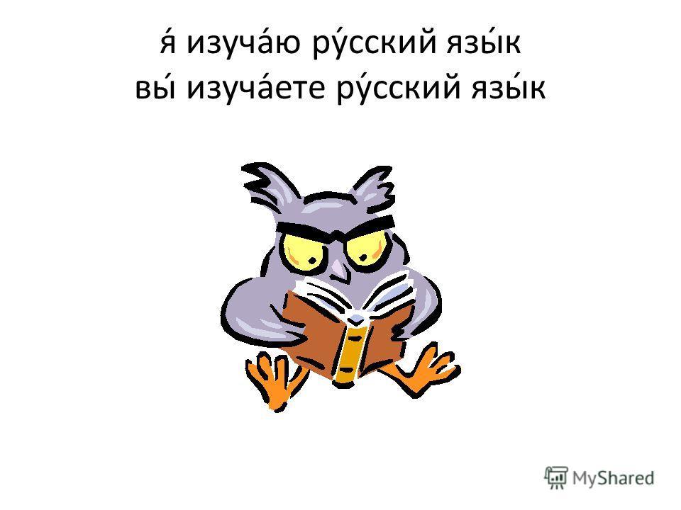 я изучаю ру́сский язы́к вы изучаете ру́сский язы́к