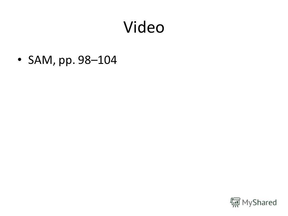 Video SAM, pp. 98–104