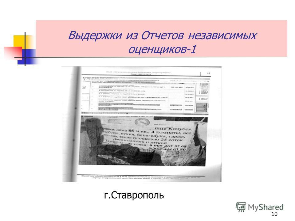 10 Выдержки из Отчетов независимых оценщиков-1 г.Ставрополь