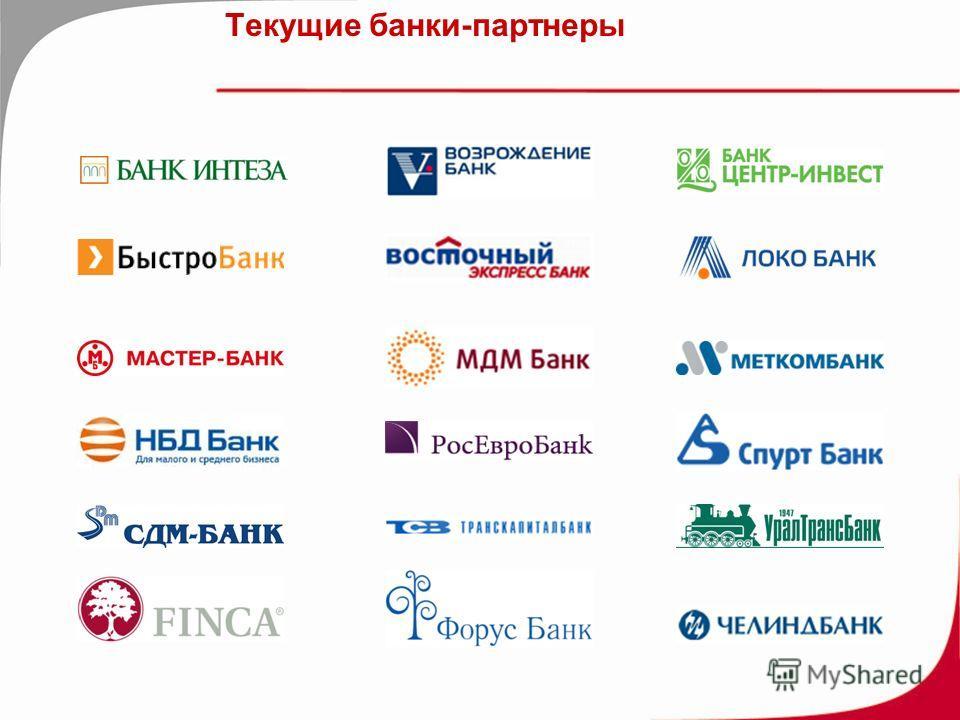 Текущие банки-партнеры