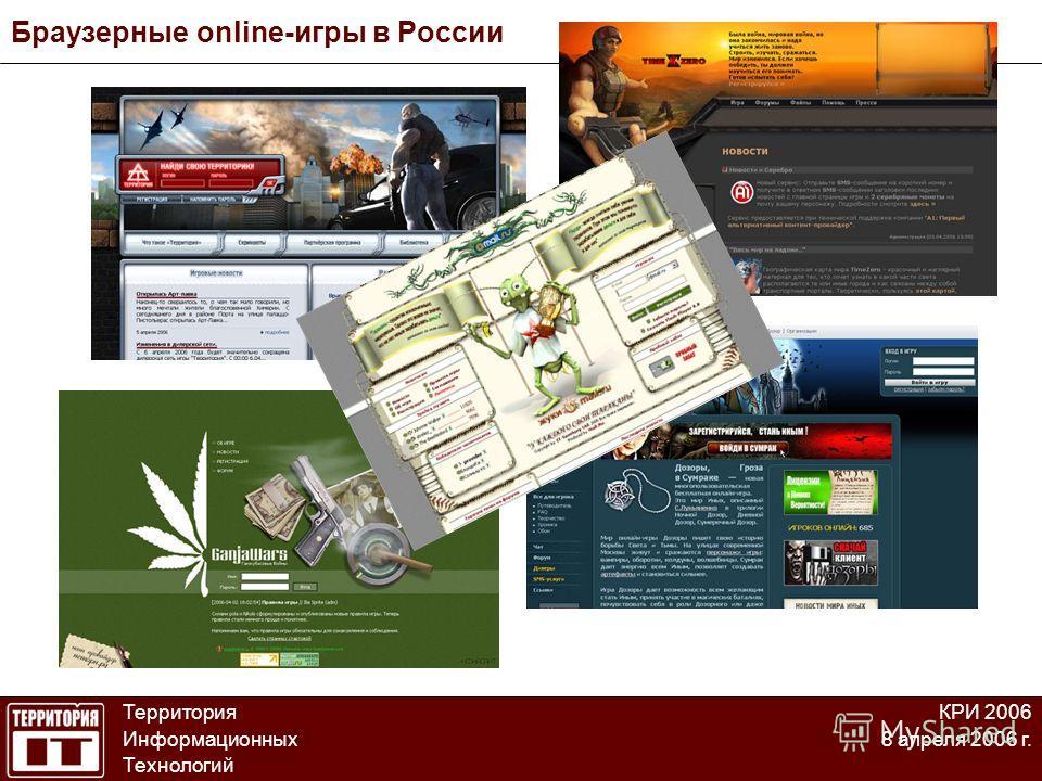 Браузерные online-игры в России Территория Информационных Технологий КРИ 2006 8 апреля 2006 г.