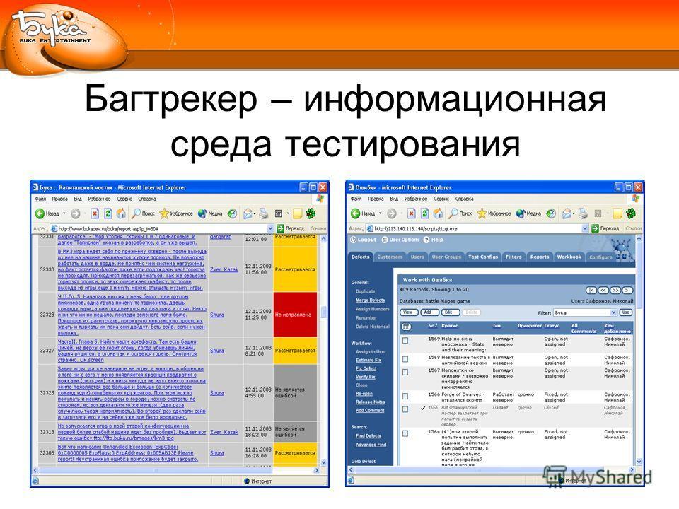 Багтрекер – информационная среда тестирования