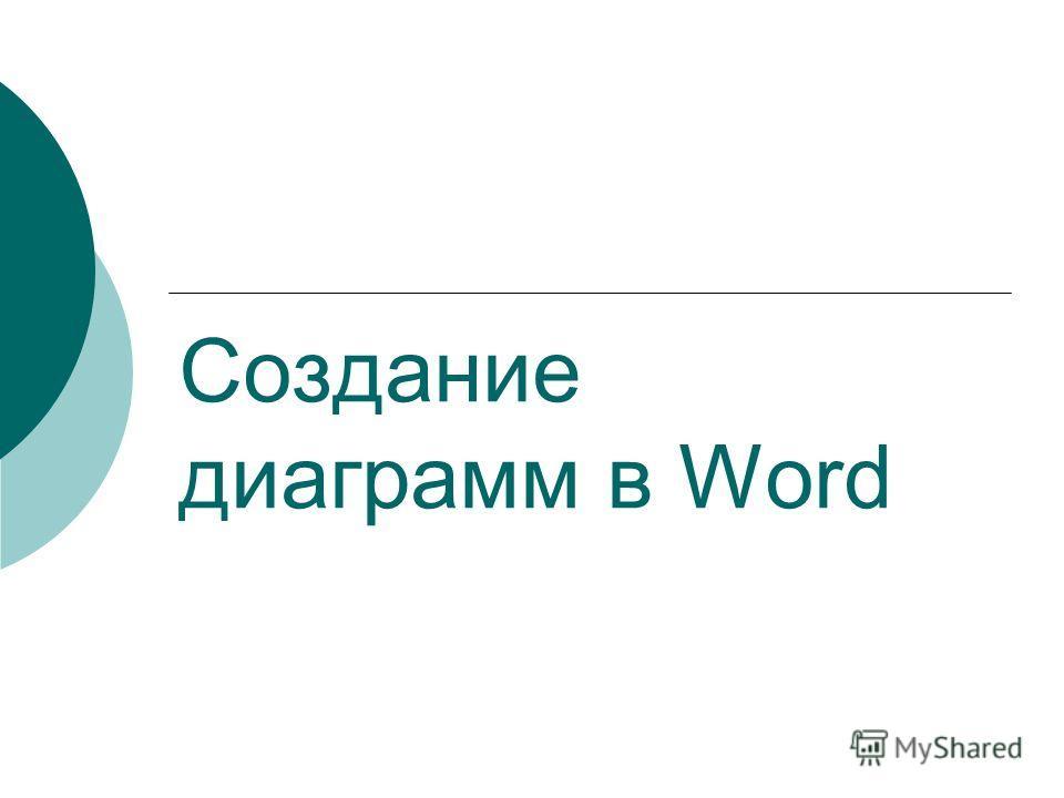 Создание диаграмм в Word