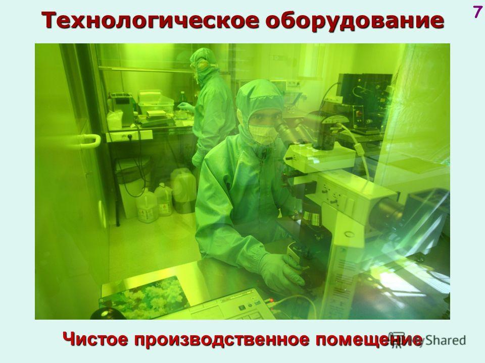 7 Чистоепроизводственное помещение Чистое производственное помещение Технологическое оборудование