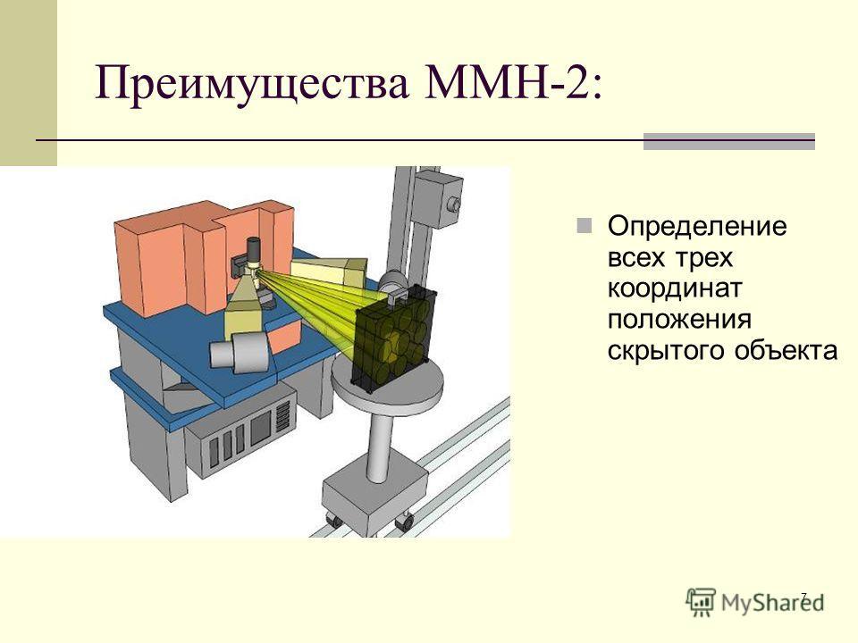 7 Преимущества ММН-2: Определение всех трех координат положения скрытого объекта