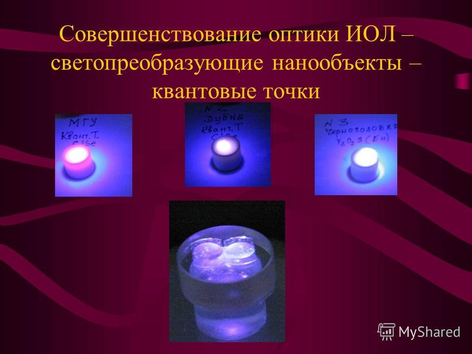 Совершенствование оптики ИОЛ – светопреобразующие нанообъекты – квантовые точки