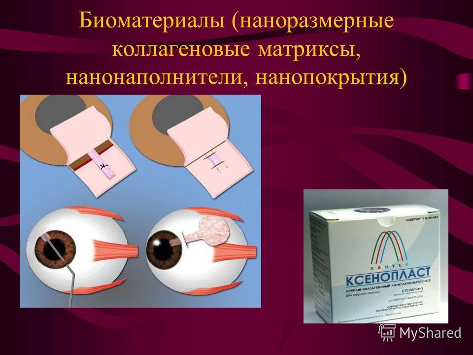 Биоматериалы (наноразмерные коллагеновые матриксы, нанонаполнители, нанопокрытия)