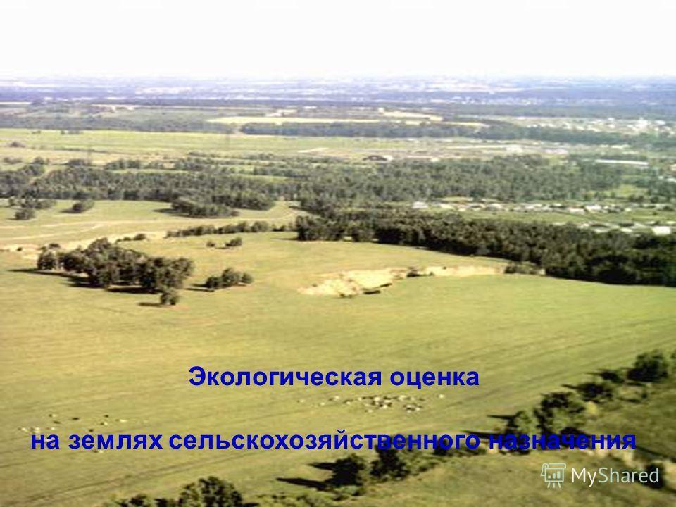 Экологическая оценка на землях сельскохозяйственного назначения