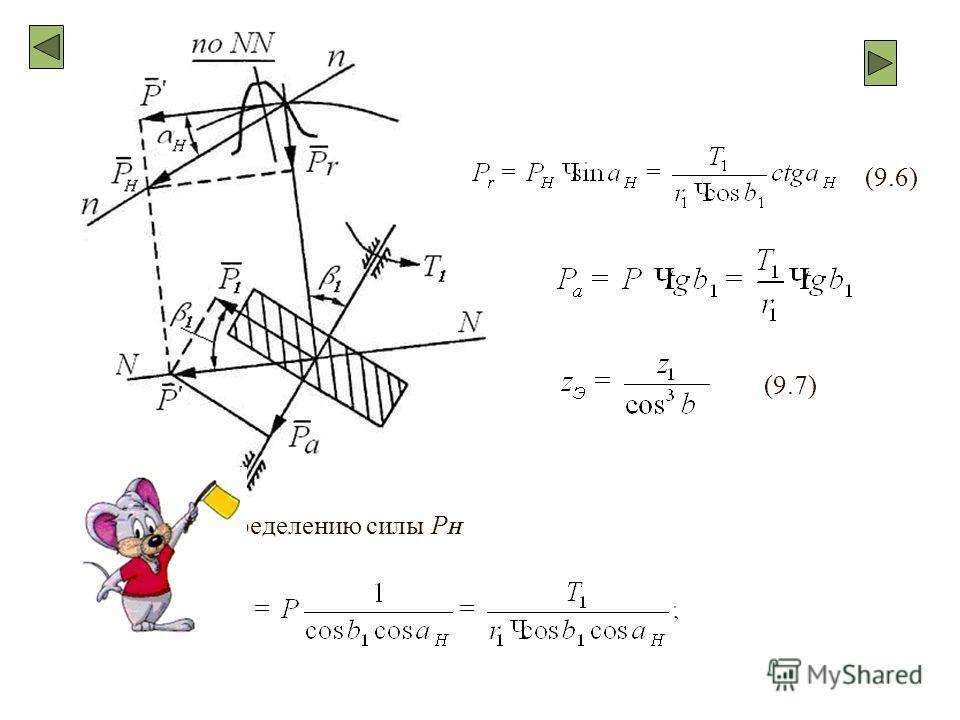 Рис. 105. К определению силы P H (9.6) (9.7)