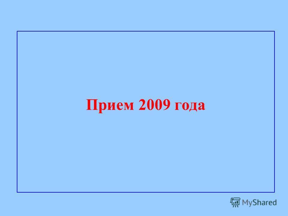 Прием 2009 года