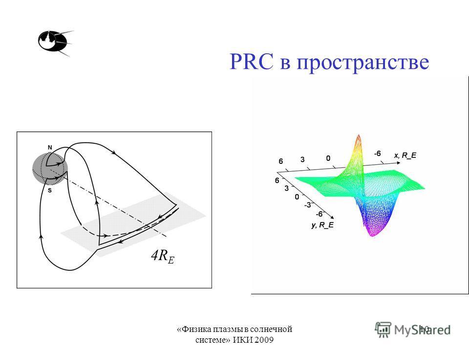 «Физика плазмы в солнечной системе» ИКИ 2009 10 PRC в пространстве 4R E