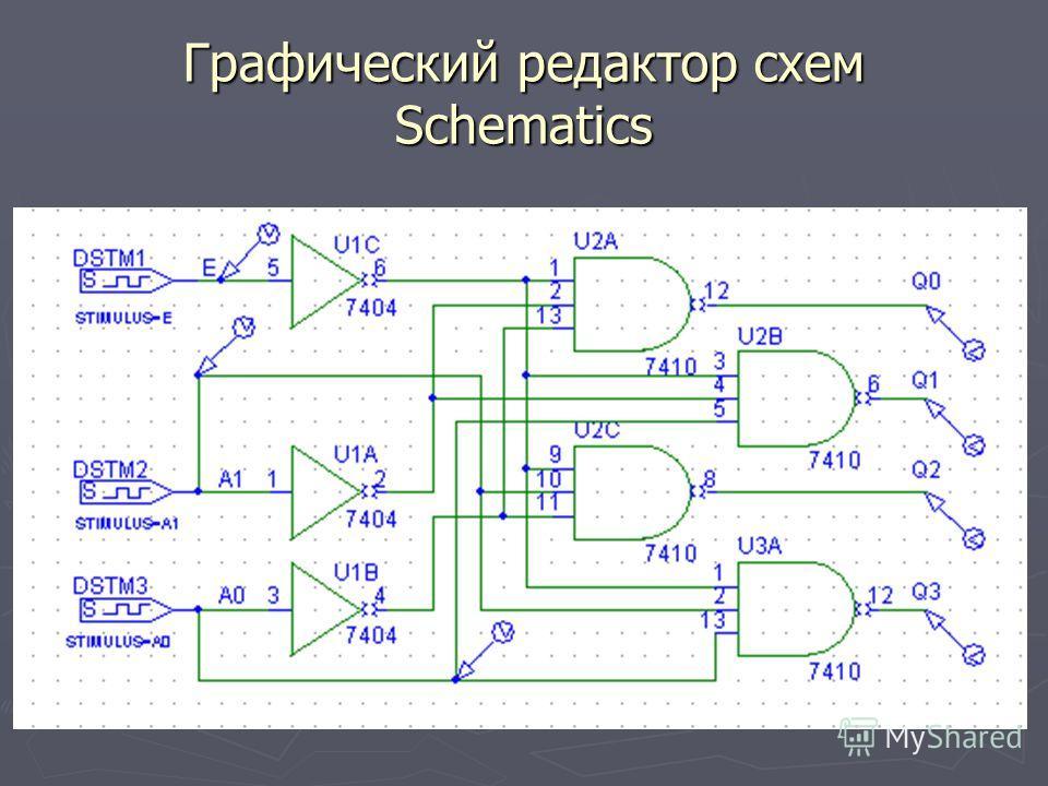 Графический редактор схем Schematics