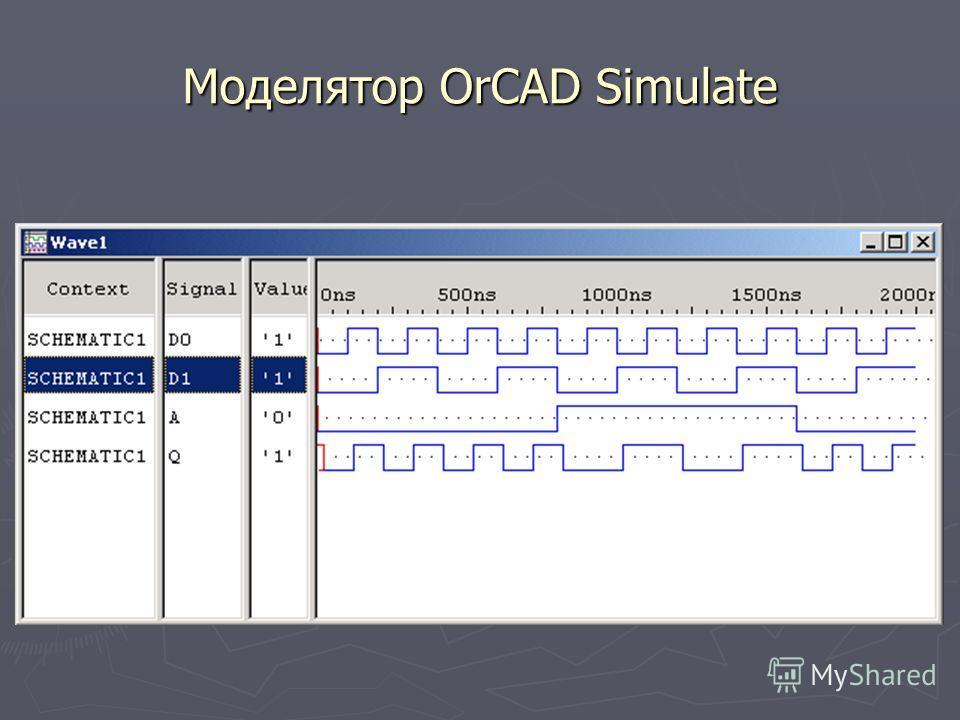 Моделятор OrCAD Simulate
