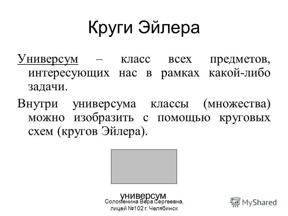 Челябинск Круги Эйлера