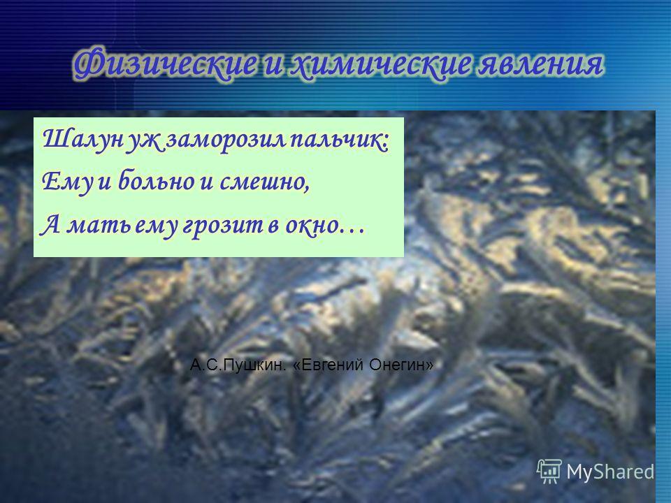 А.С.Пушкин. «Евгений Онегин»