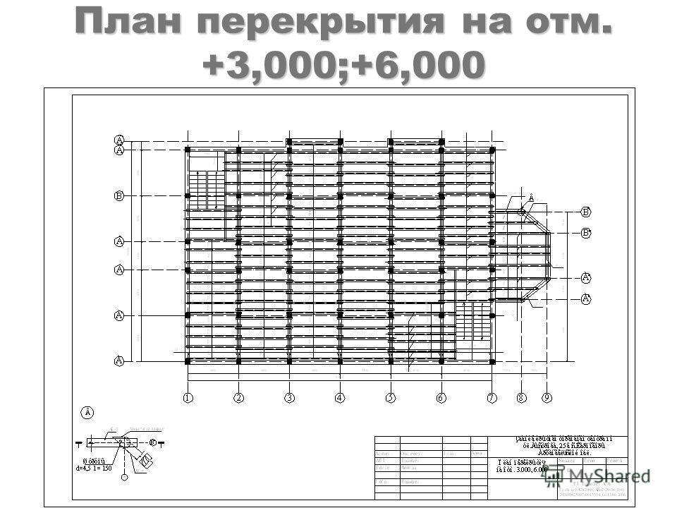 План перекрытия на отм. +3,000;+6,000