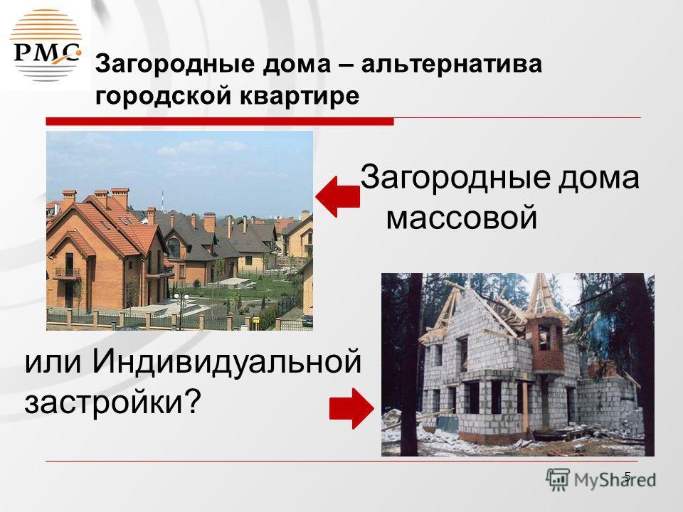 5 Загородные дома – альтернатива городской квартире Загородные дома массовой или Индивидуальной застройки?