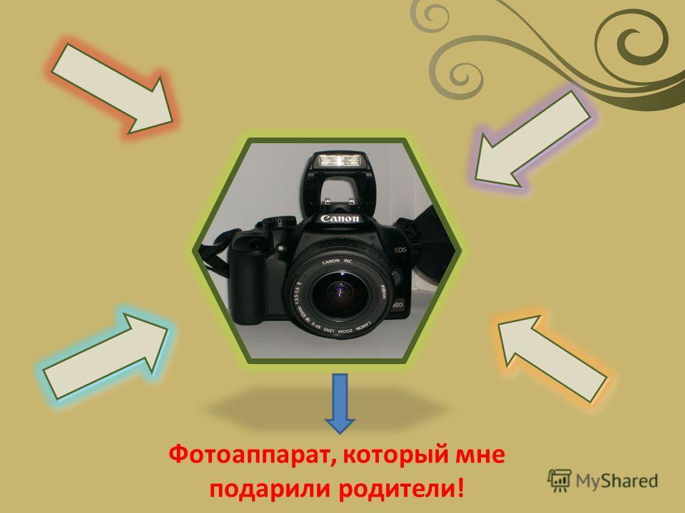 Фотоаппарат, который мне подарили родители!