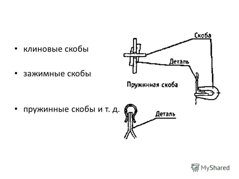 клиновые скобы зажимные скобы пружинные скобы и т. д.