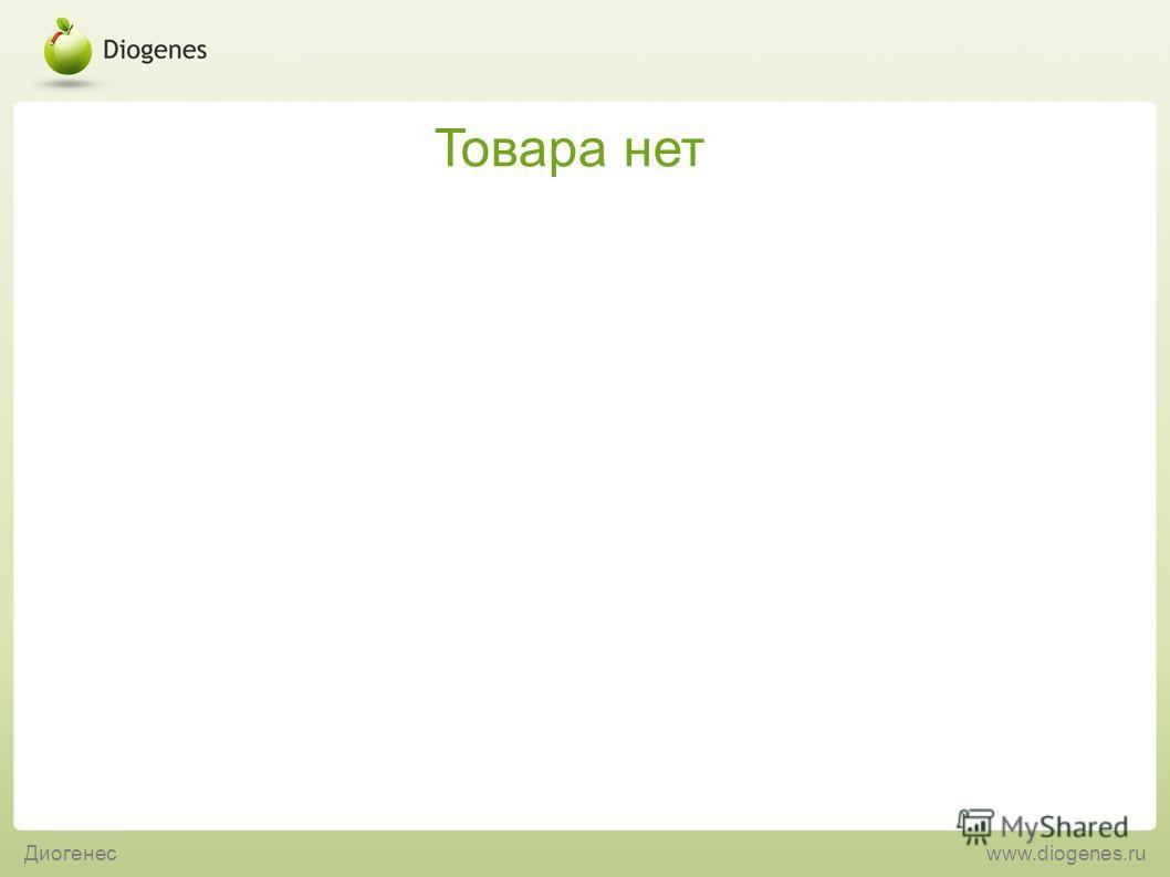 Товара нет Диогенесwww.diogenes.ru