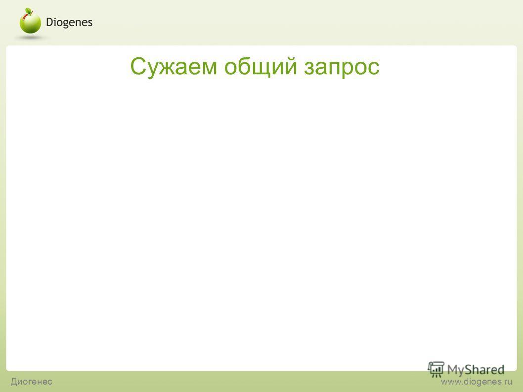 Сужаем общий запрос Диогенесwww.diogenes.ru
