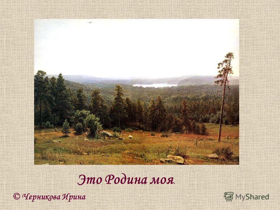 © Черникова Ирина Это Родина моя.