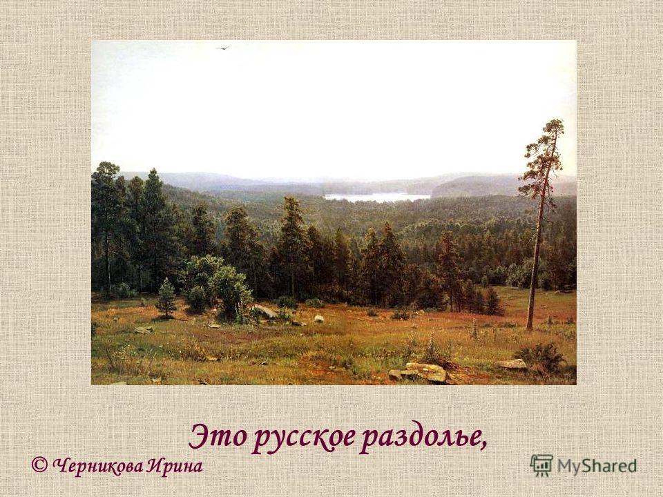 © Черникова Ирина Это русское раздолье,