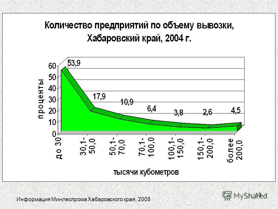 13 Информация Минлеспрома Хабаровского края, 2005