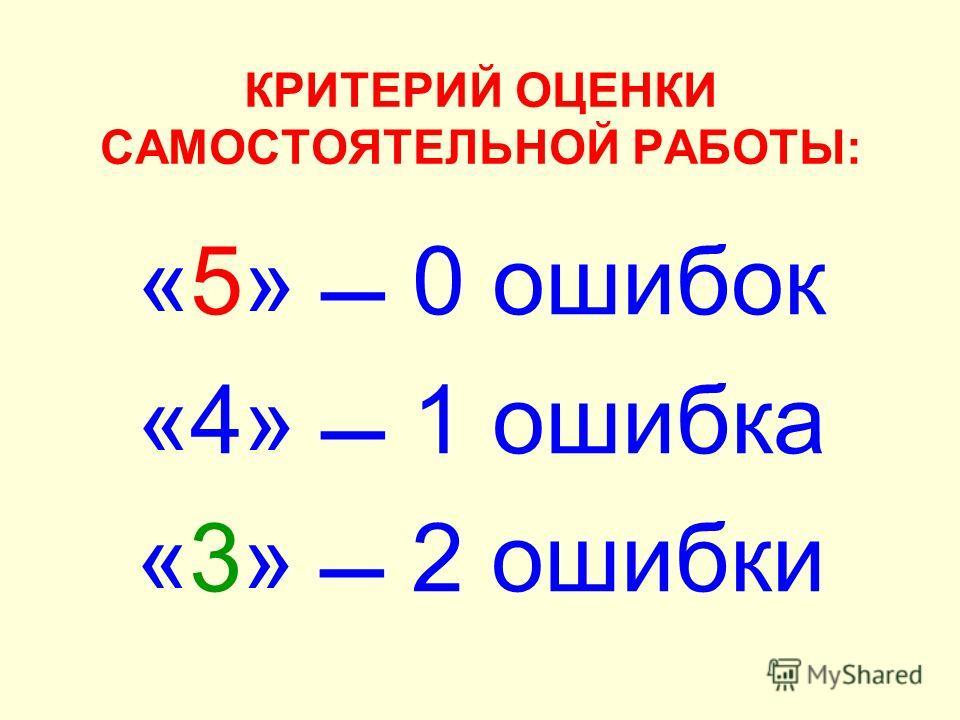 ОТВЕТЫ К САМОСТОЯТЕЛЬНОЙ РАБОТЕ ВАРИАНТ 1ВАРИАНТ 2