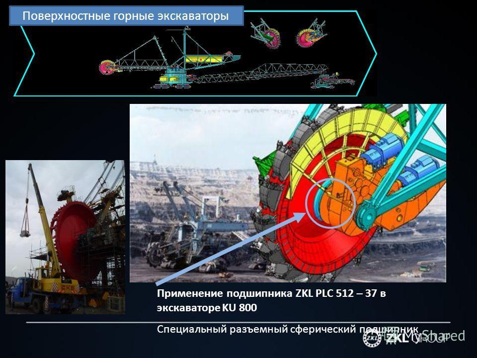 Применение подшипника ZKL PLC 512 – 37 в экскаваторе KU 800 Специальный разъемный сферический подшипник Поверхностные горные экскаваторы