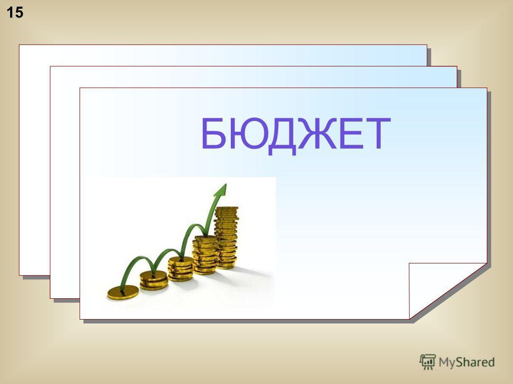 БЮДЖЕТ БЮДЖЕТ 15