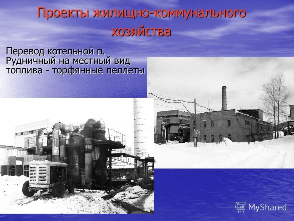 Проекты жилищно-коммунального хозяйства Перевод котельной п. Рудничный на местный вид топлива - торфянные пеллеты