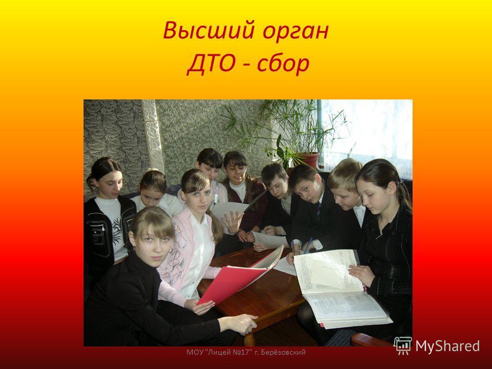 Высший орган ДТО - сбор МОУ Лицей 17 г. Берёзовский