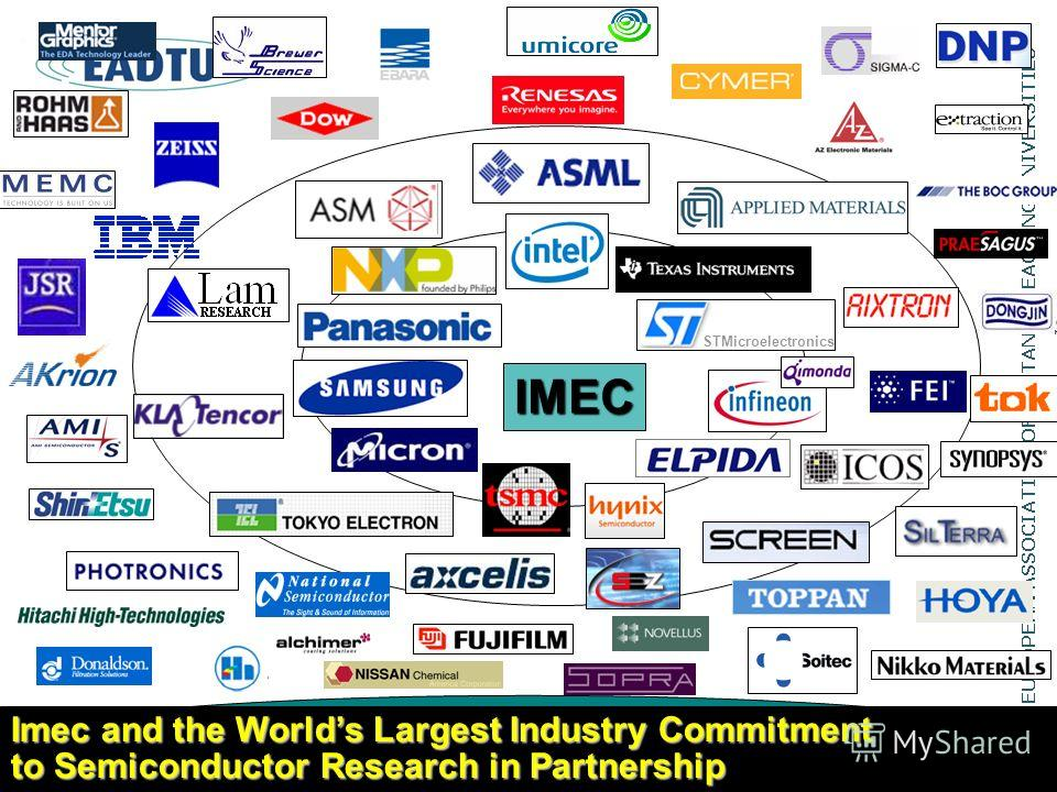Imec and the Worlds Largest Industry Commitment to Semiconductor Research in Partnership STMicroelectronics IMEC