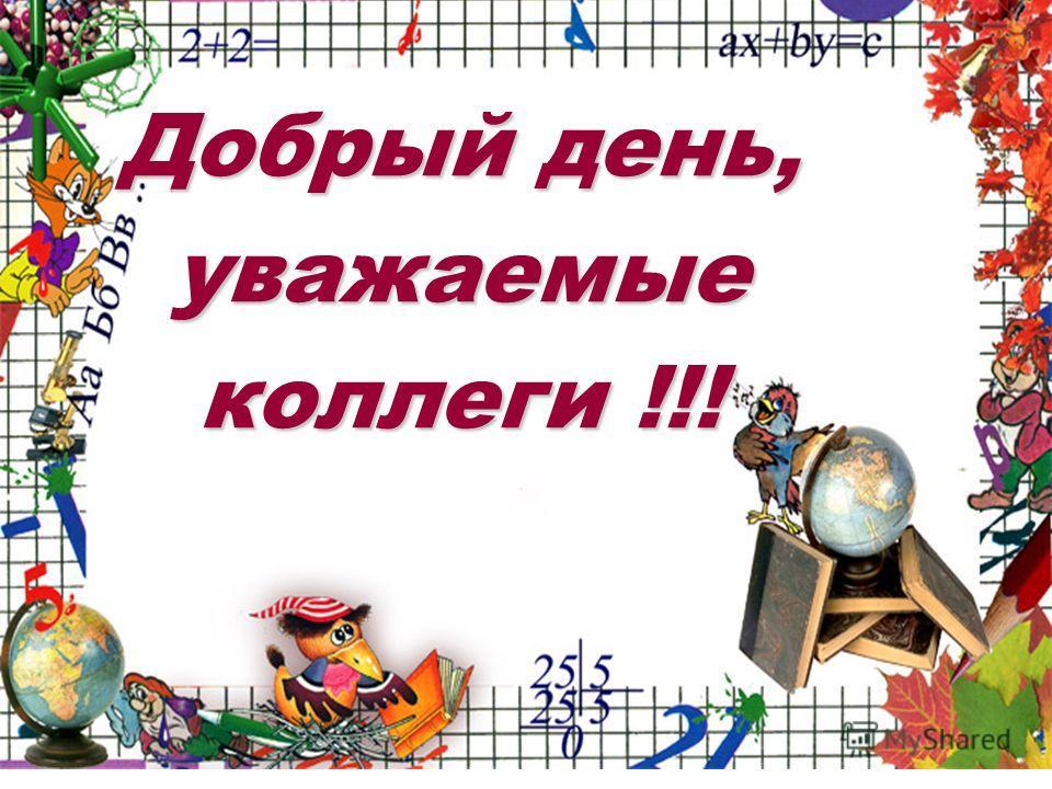 Добрый день, уважаемые коллеги !!!
