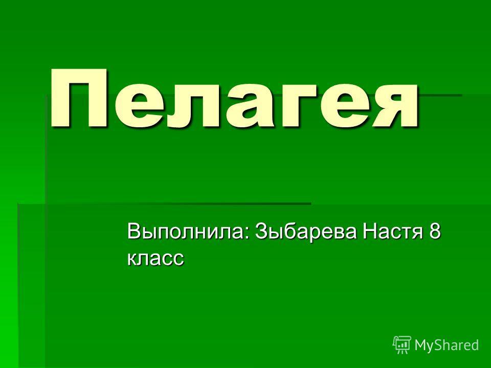 Выполнила: Зыбарева Настя 8 класс Пелагея