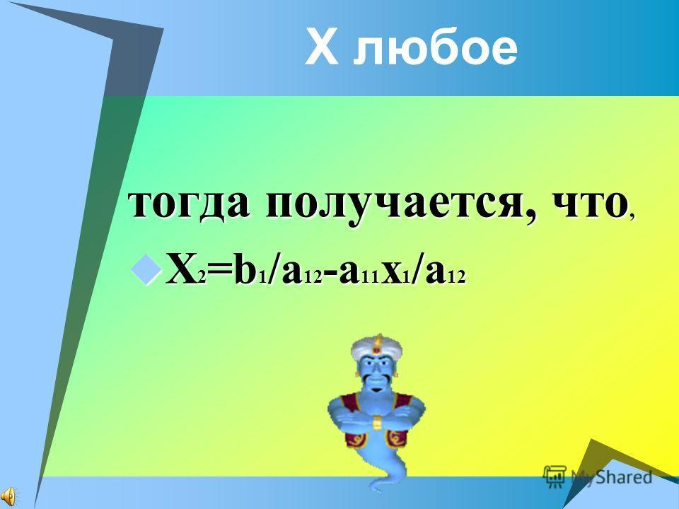 Если а = 0,то должны обращаться в нуль и а1 и а2 (иначе(5), а тем более (3) не имеет решений). При выполнении условия а=а1=а2=0, если соответственные коэффициенты при неизвестных и свободные члены уравнения системы (3) пропорциональны, то система буд