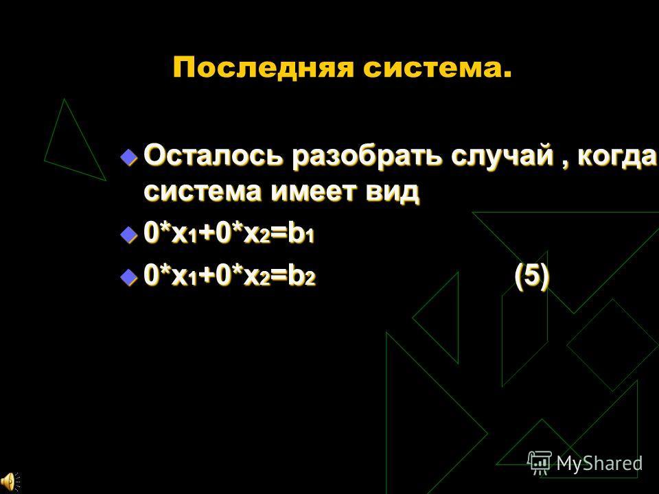 Х любое тогда получается, что, Х 2 =b 1 /a 12 -a 11 x 1 /a 12 Х 2 =b 1 /a 12 -a 11 x 1 /a 12