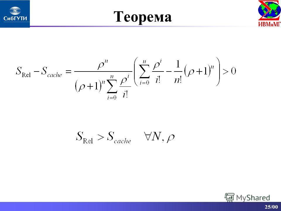 25/00 Теорема