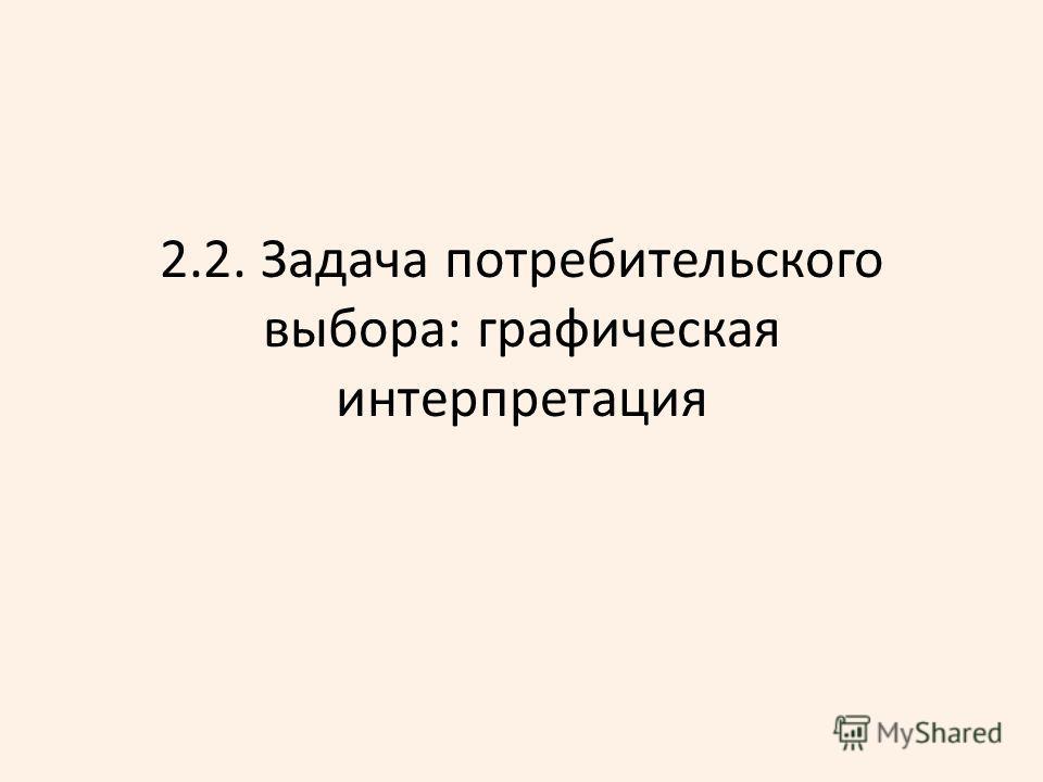 2.2. Задача потребительского выбора: графическая интерпретация